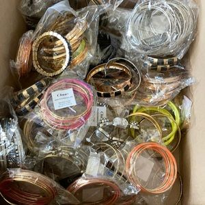 Lot of over 100 bangle and bracelets for resell